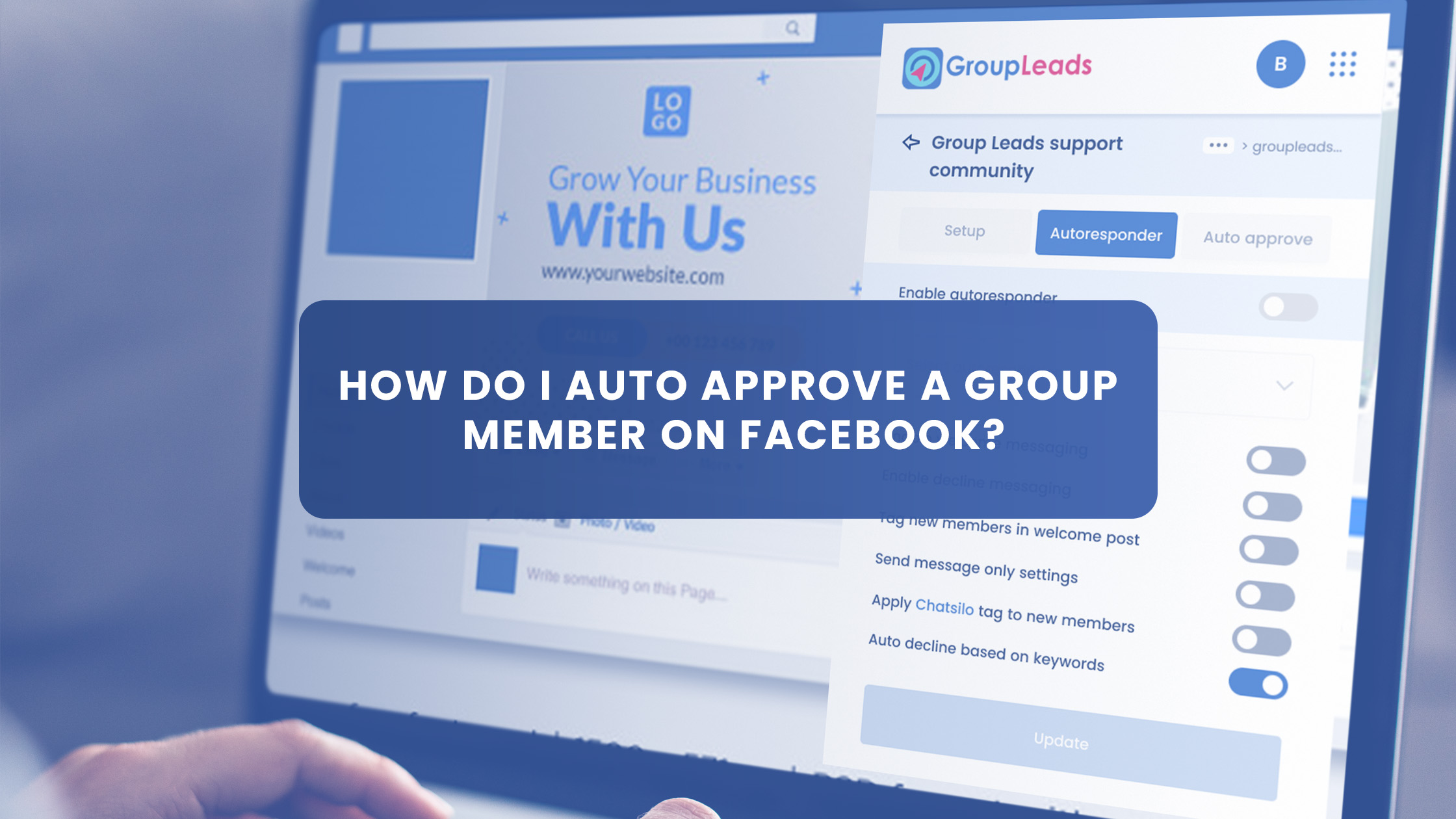 How do I Auto Approve a Group Member on Facebook?