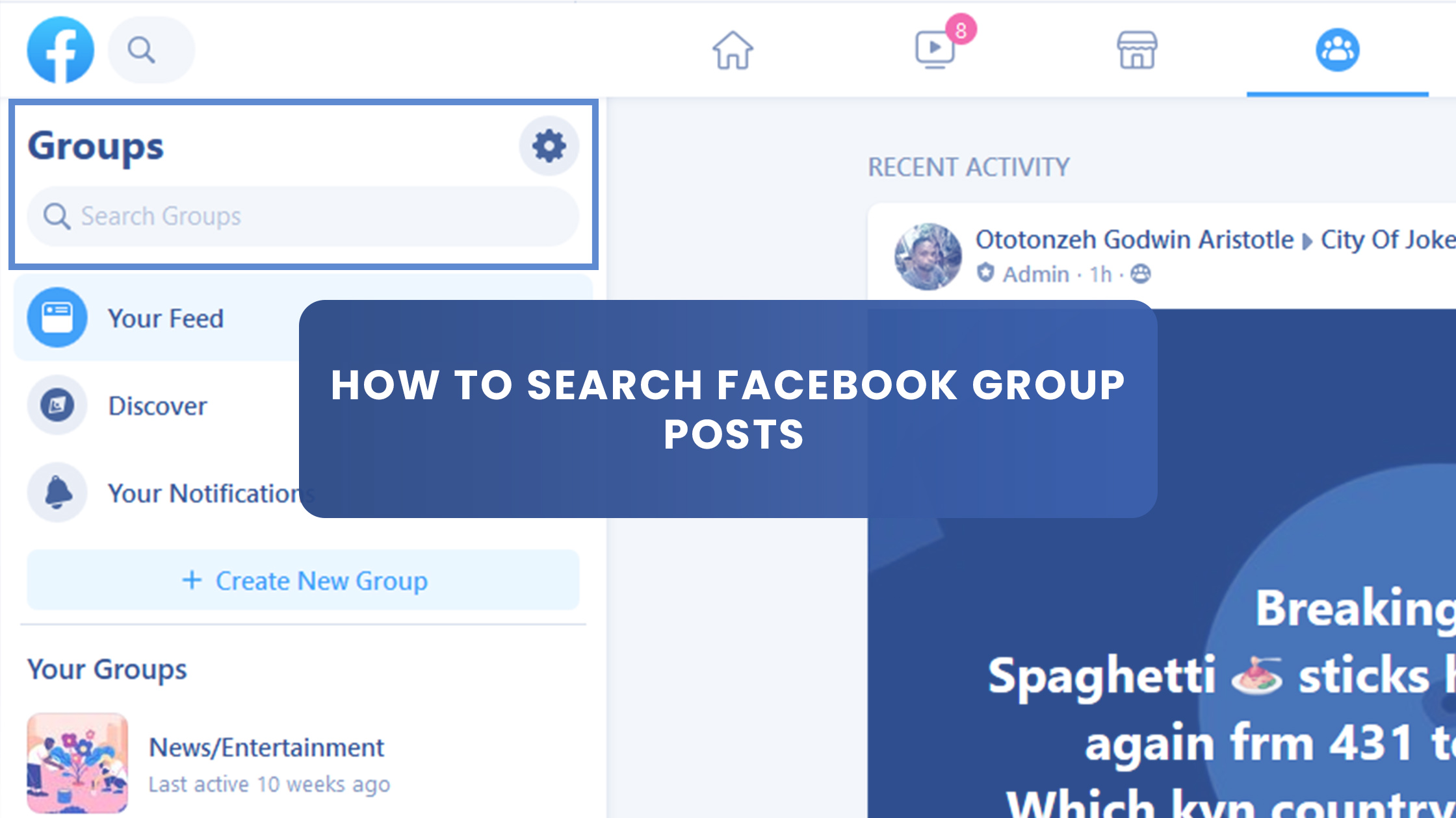 How to Search Facebook Group Posts