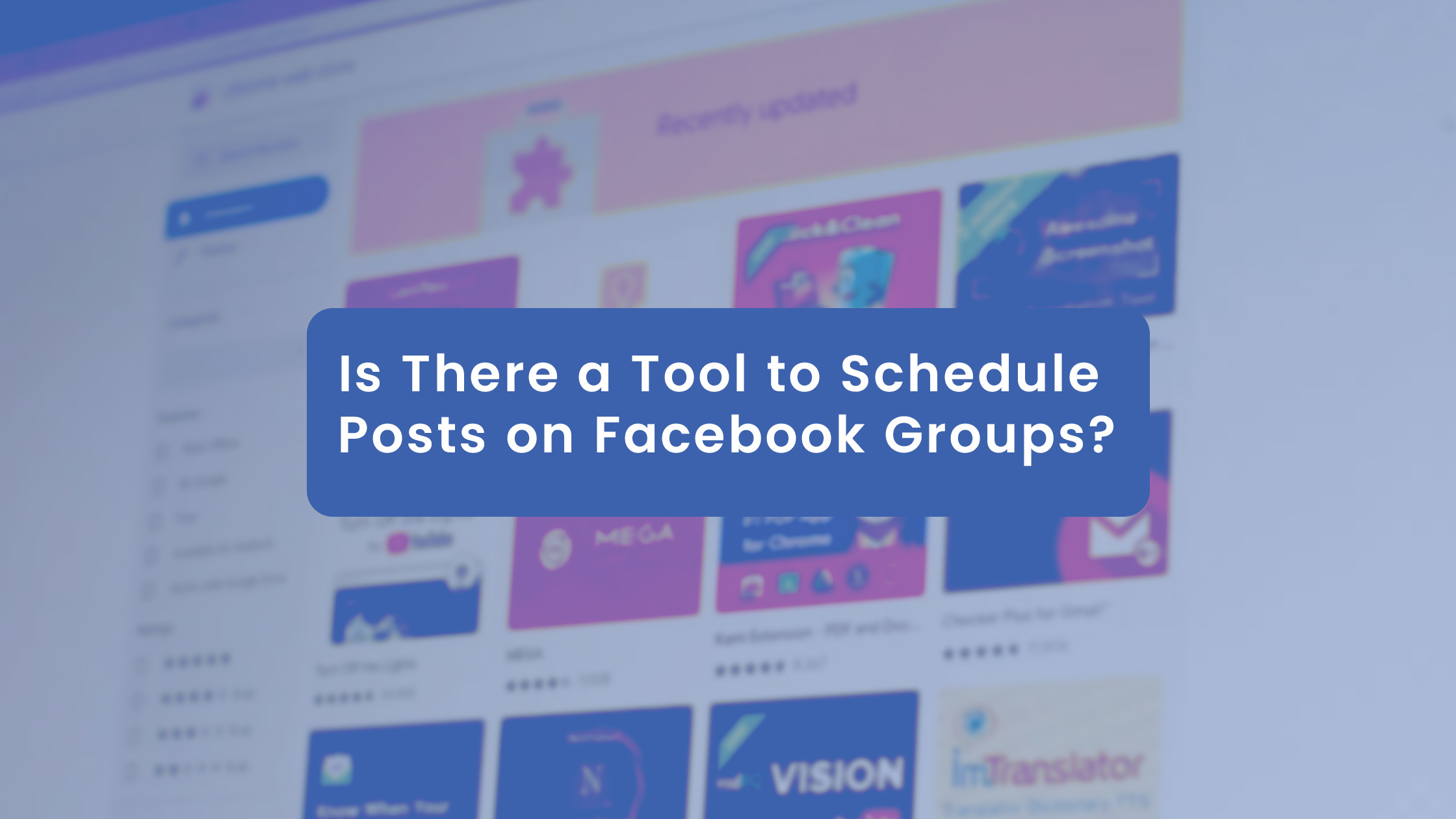 Is There a Tool to Schedule Posts on Facebook Groups?
