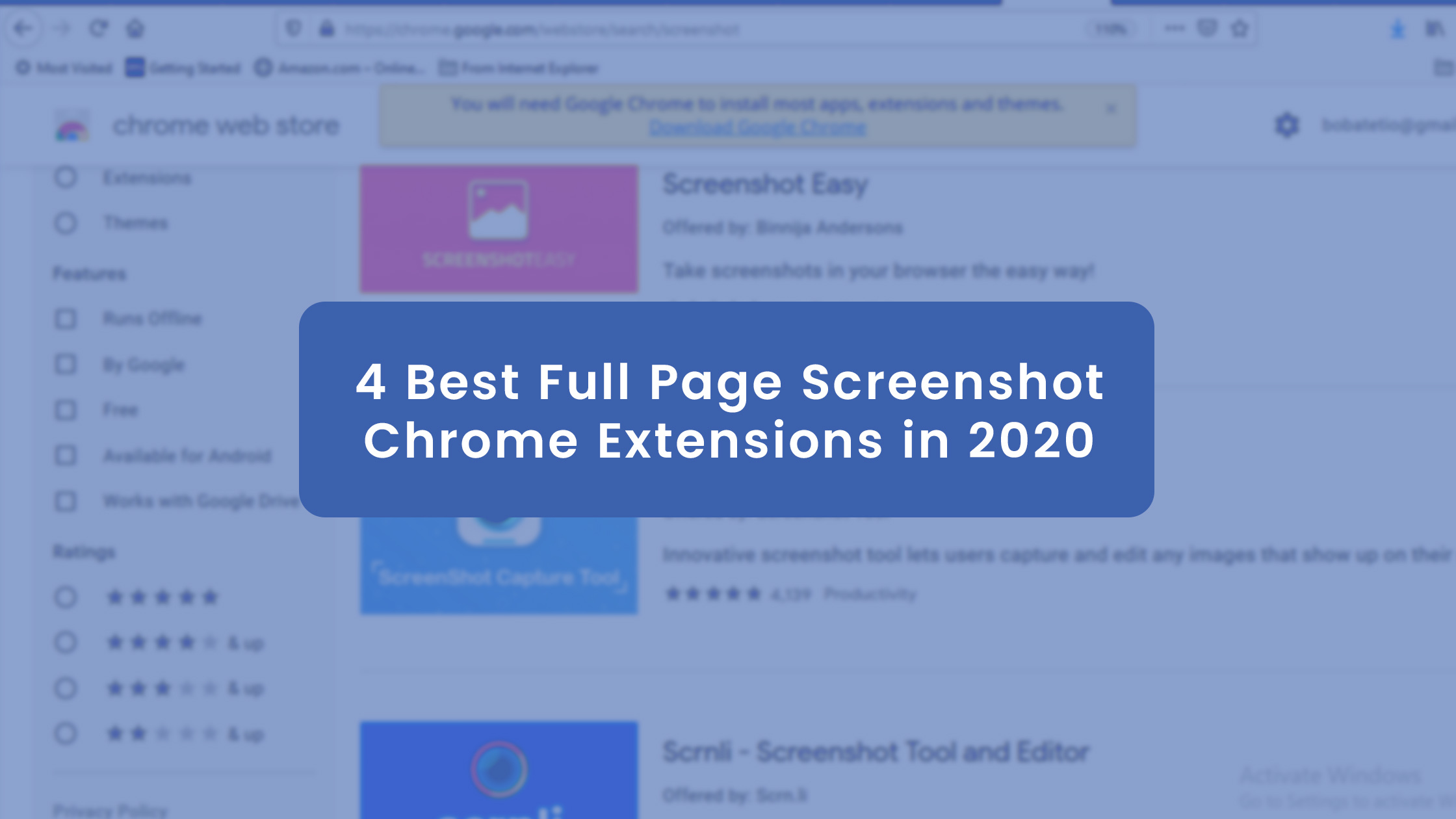 4 Best Full Page Screenshot Chrome Extensions in 2021?